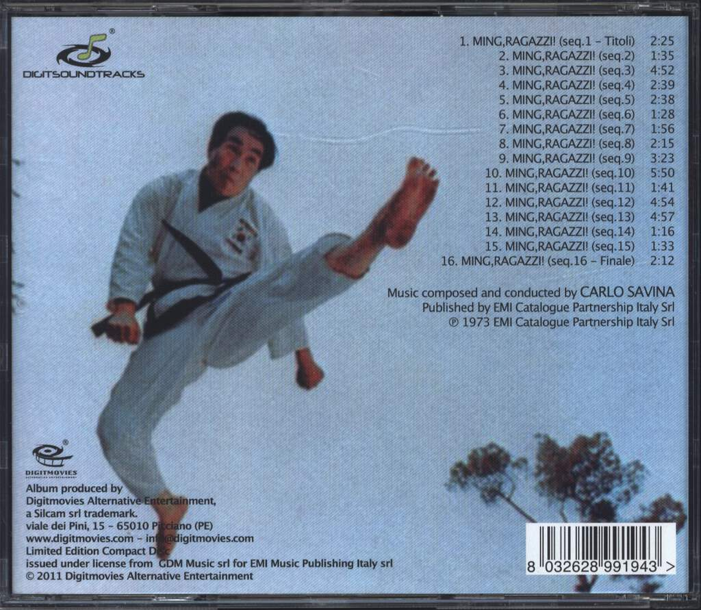 Carlo Savina: Ming,Ragazzi! Mr.Hercules Against Karate (Original Motion Picture Soundtrack In Full Stereo), CD