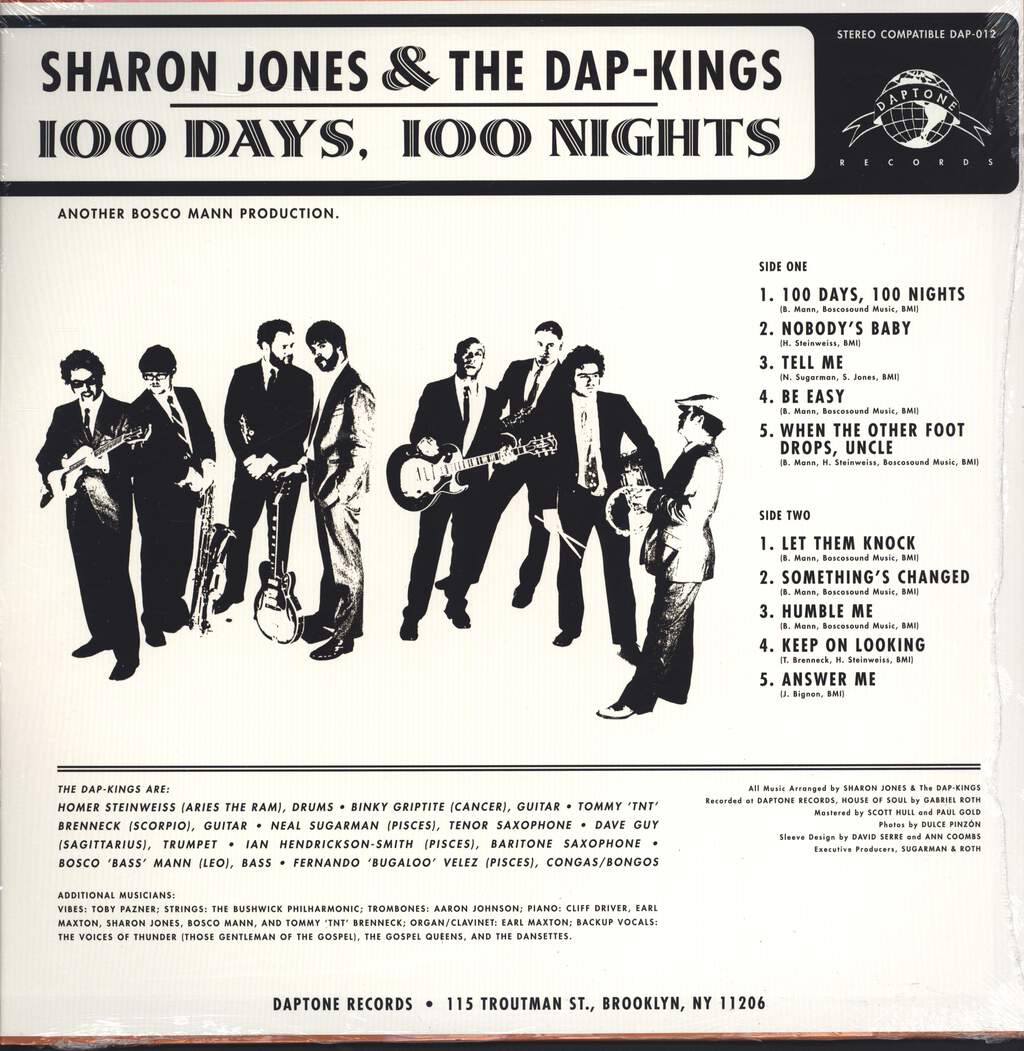 Sharon Jones & The Dap-Kings: 100 Days, 100 Nights, LP (Vinyl)