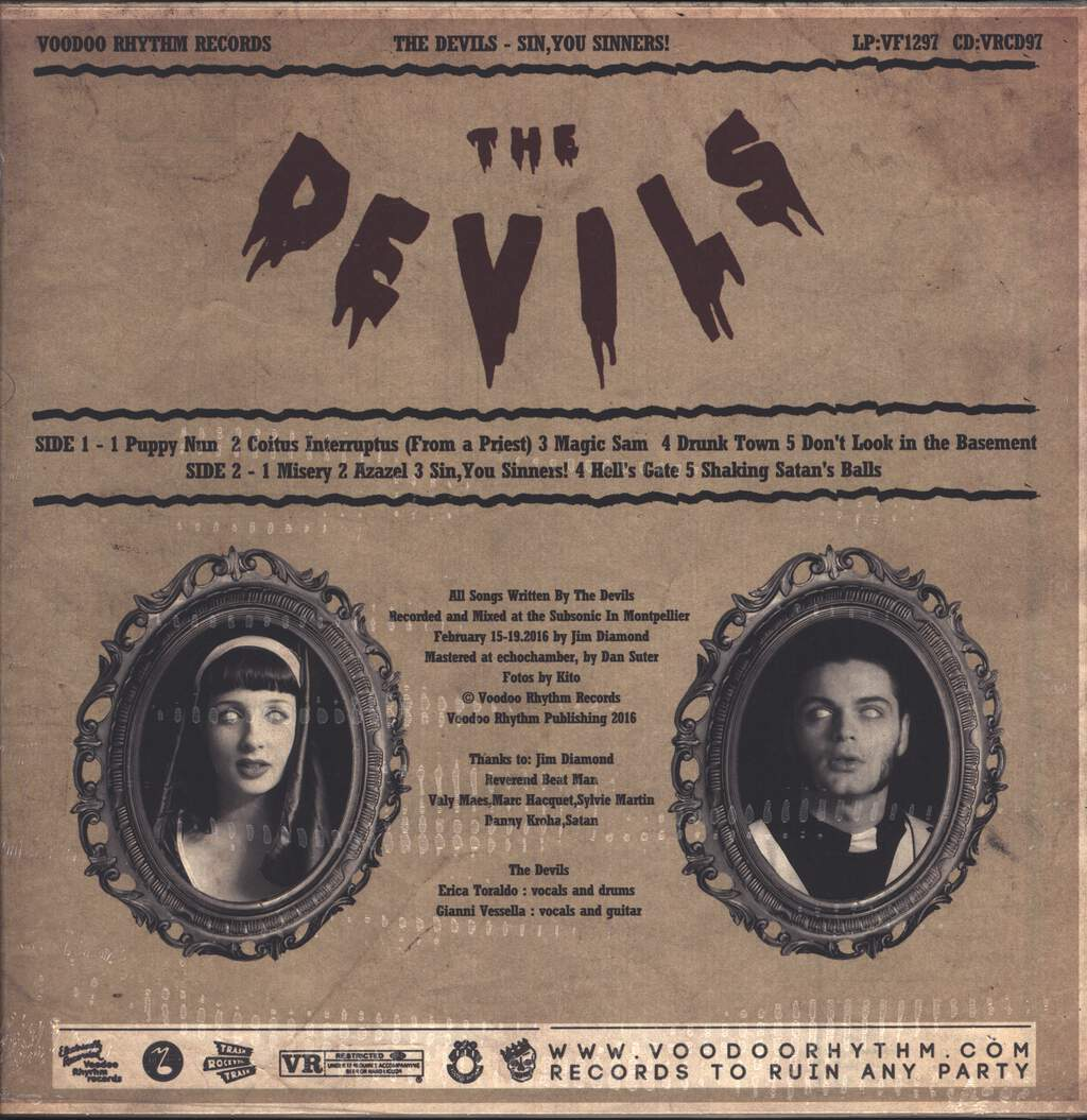 The Devils: Sin, You Sinners!, LP (Vinyl)