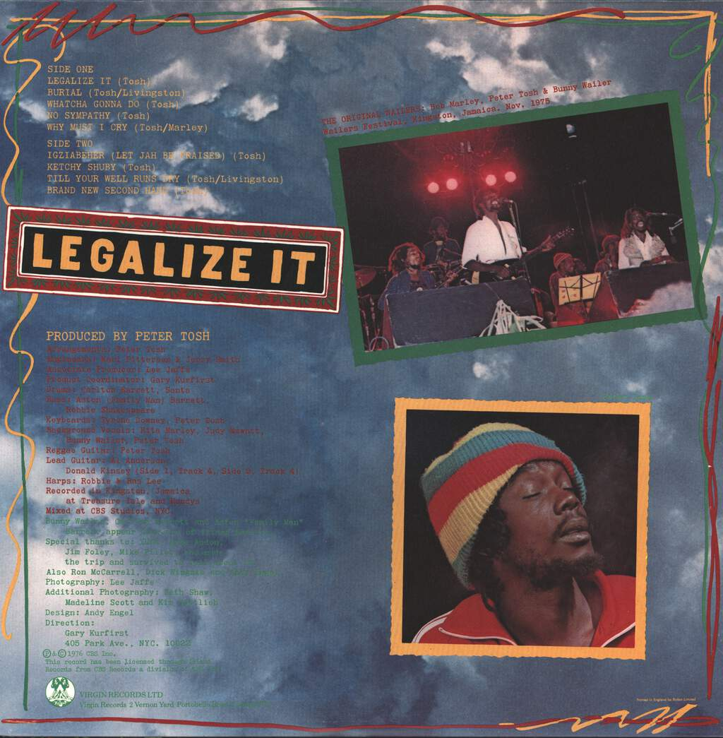 Peter Tosh: Legalize It, LP (Vinyl)