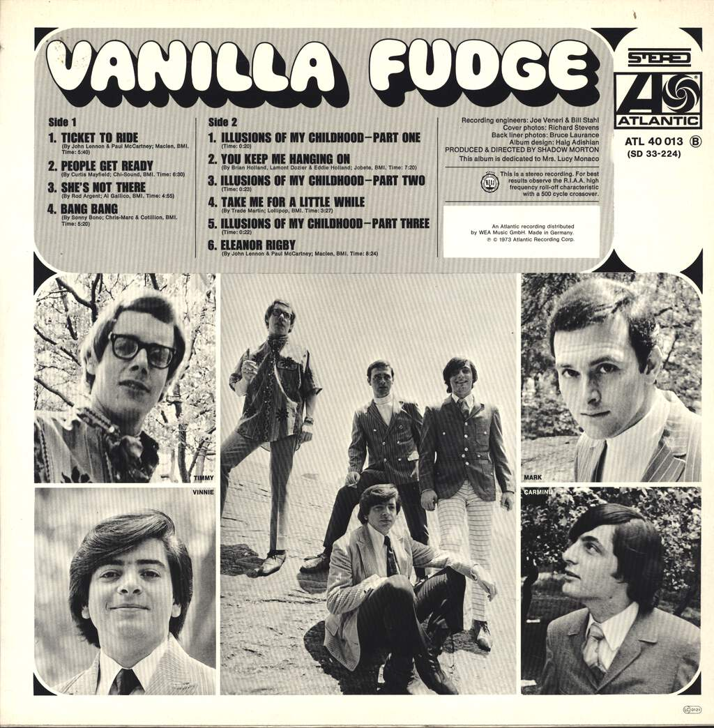 Vanilla Fudge: Vanilla Fudge, LP (Vinyl)