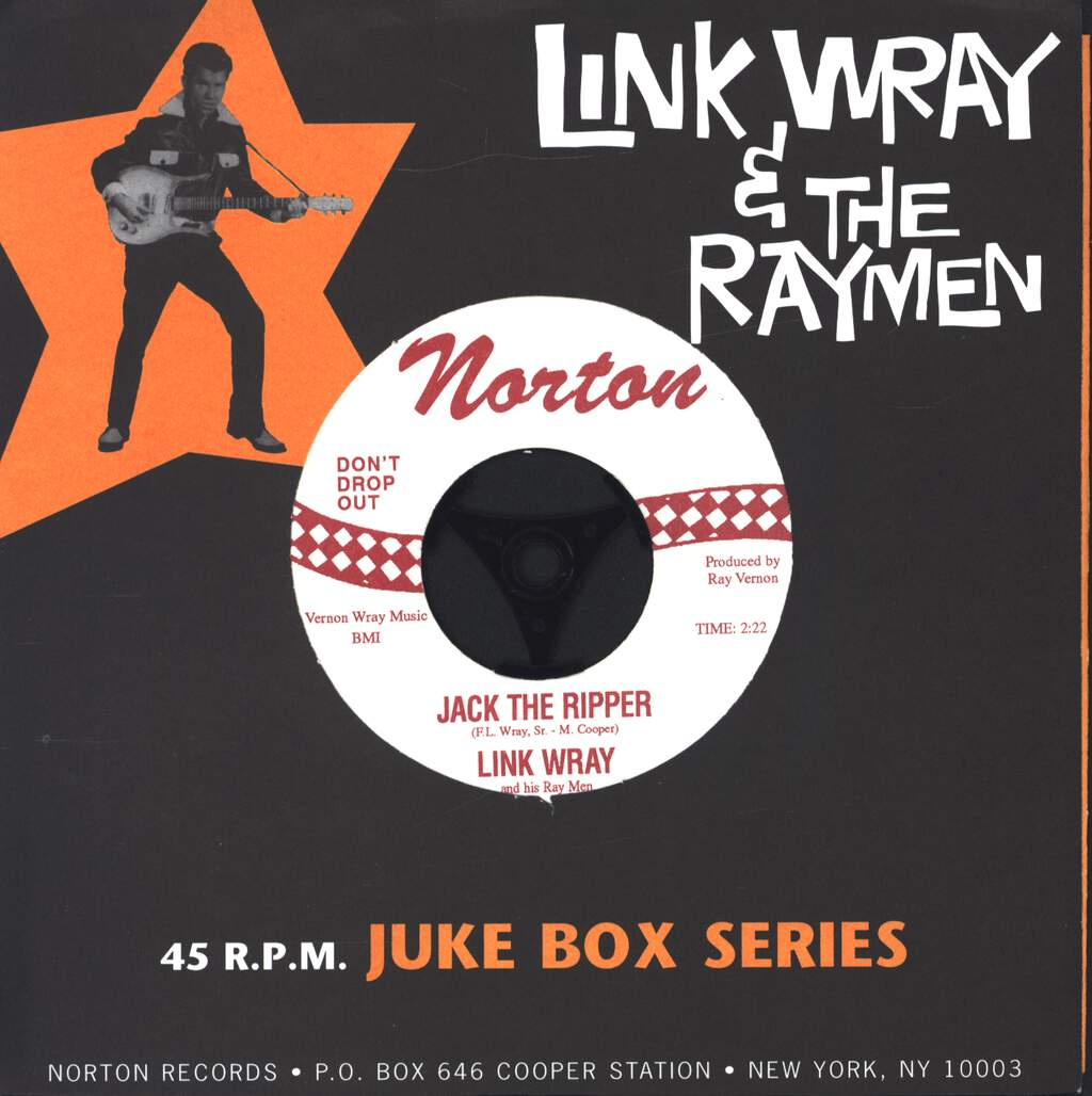 "Link Wray And His Ray Men: Jack The Ripper / Bo Diddley, 7"" Single (Vinyl)"
