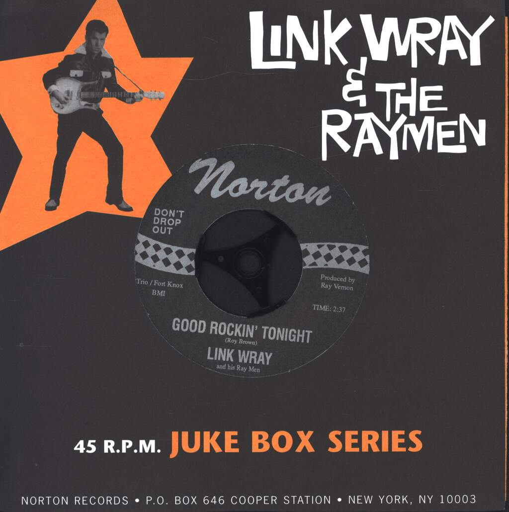 "Link Wray And His Ray Men: Good Rockin' Tonight / Soul Train, 7"" Single (Vinyl)"
