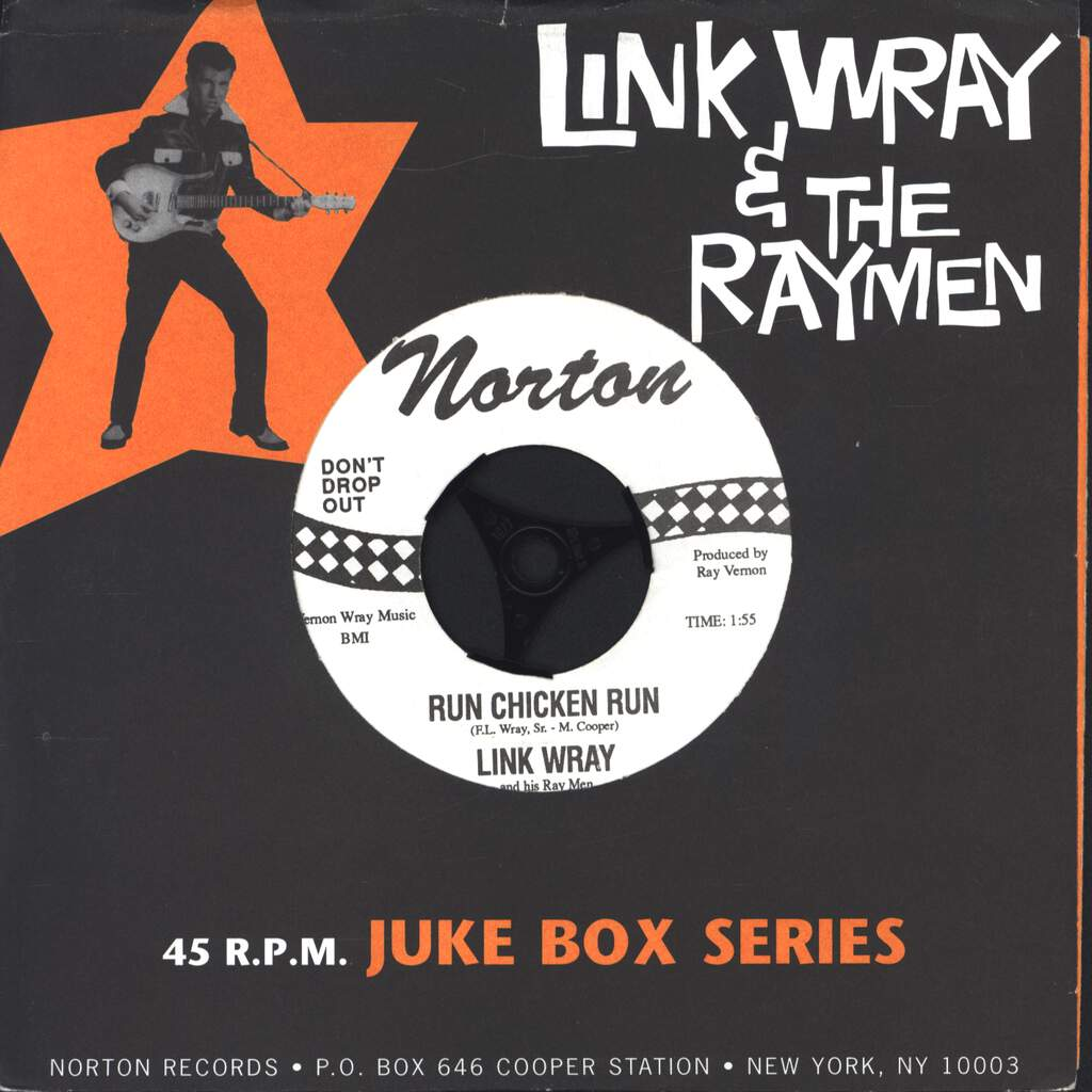 "Link Wray And His Ray Men: Run Chicken Run / Scatter, 7"" Single (Vinyl)"