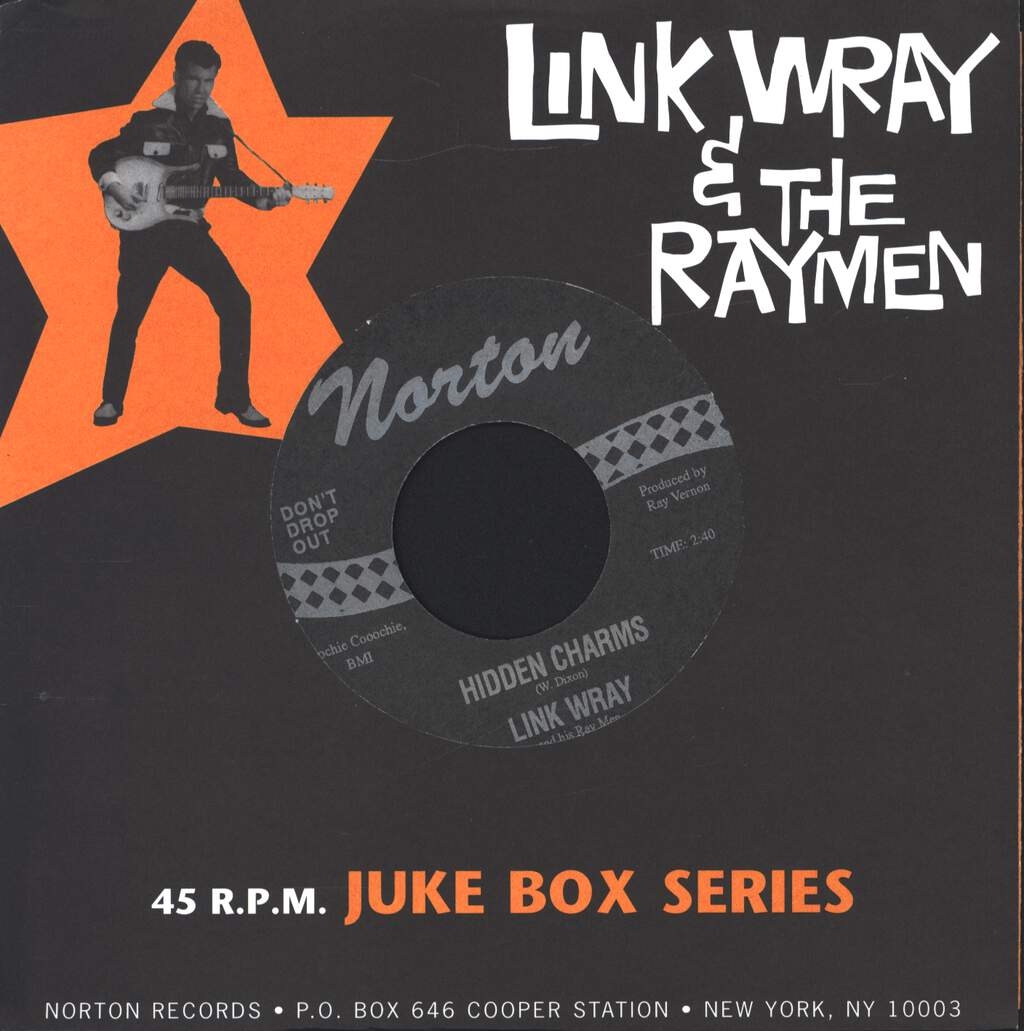 "Link Wray And His Ray Men: Hidden Charms / Five And Ten, 7"" Single (Vinyl)"