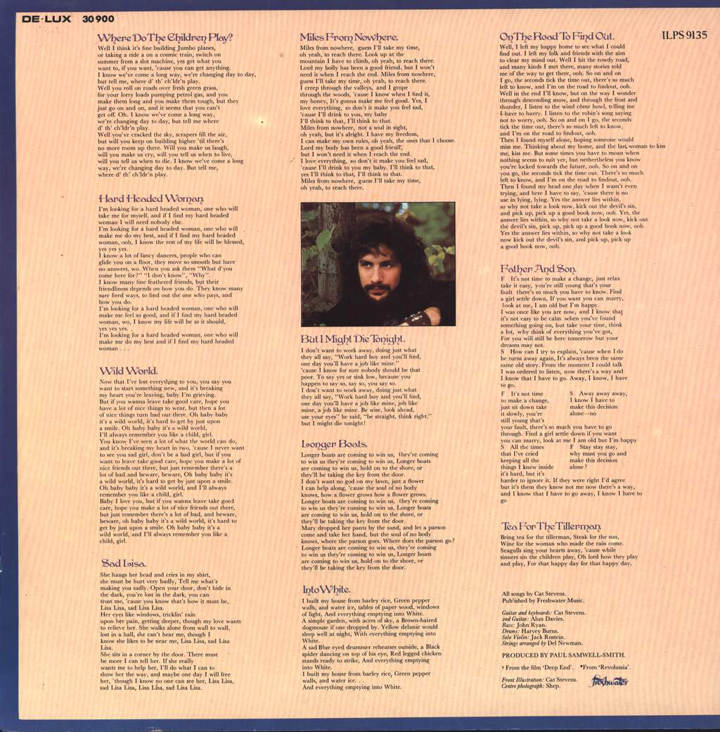 Cat Stevens: Tea For The Tillerman, LP (Vinyl)