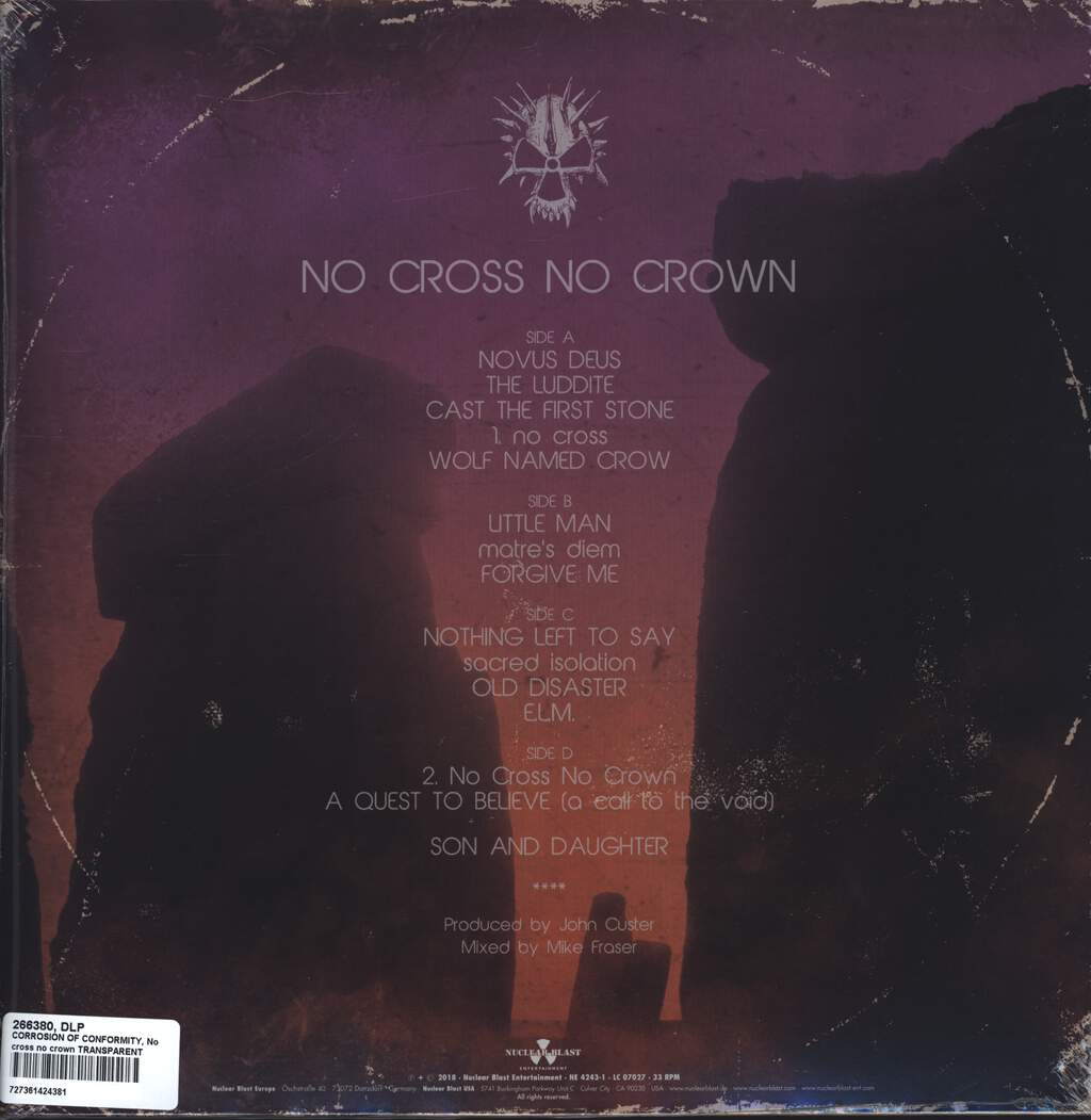 Corrosion Of Conformity: No Cross No Crown, LP (Vinyl)