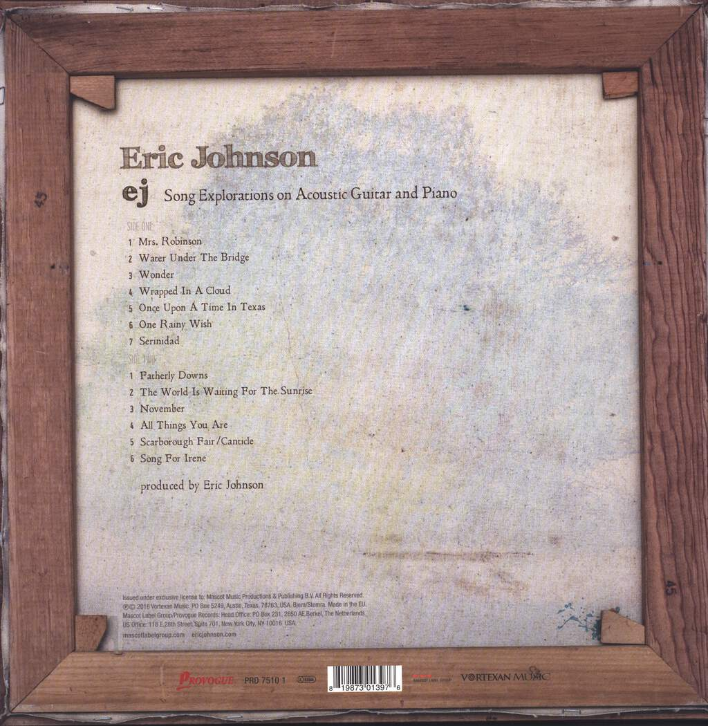 Eric Johnson: EJ, LP (Vinyl)
