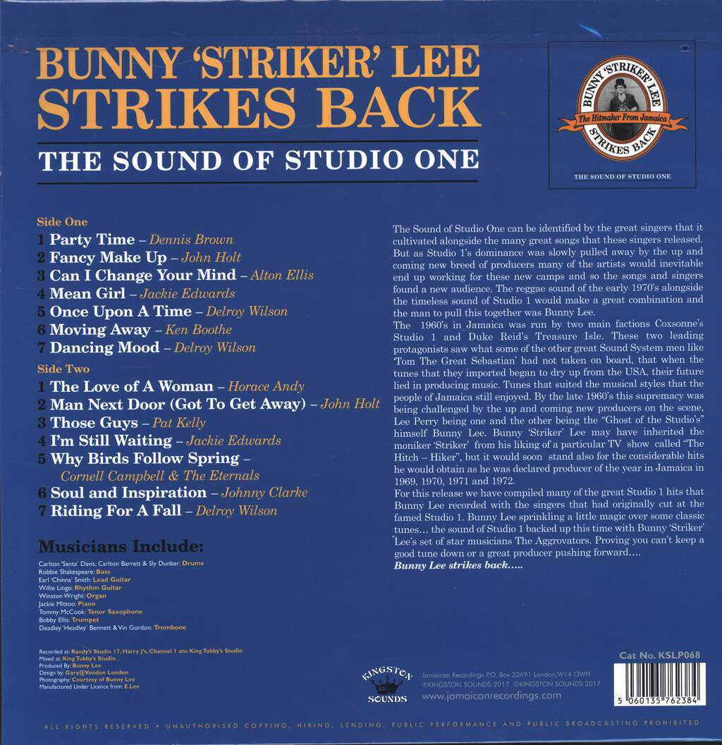 Bunny Lee: Bunny 'Striker' Lee Strikes Back (The Sound Of Studio One), LP (Vinyl)