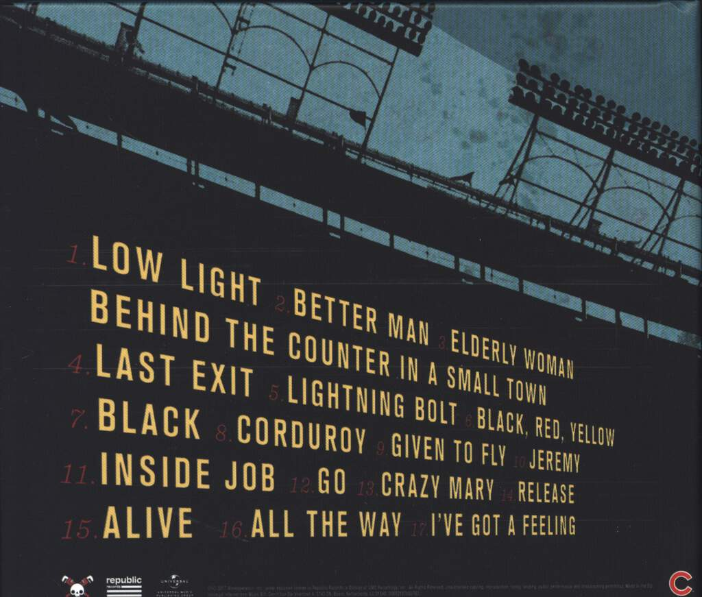 Pearl Jam: Let's Play Two, CD