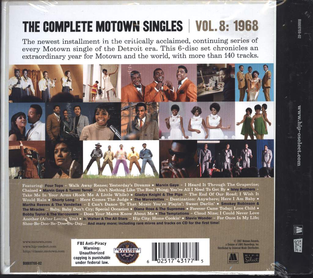 Various: The Complete Motown Singles | Vol. 8: 1968, CD