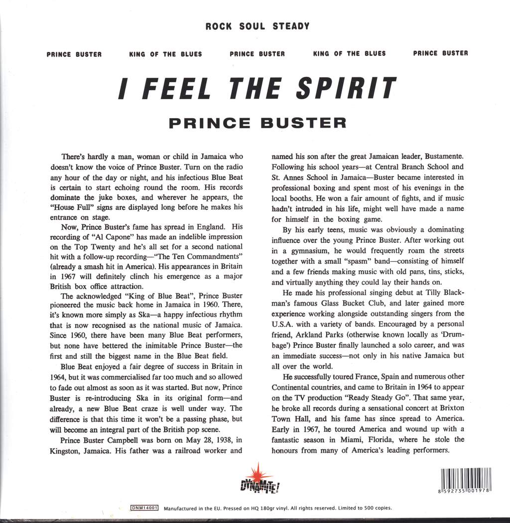 Prince Buster: I Feel The Spirit, LP (Vinyl)