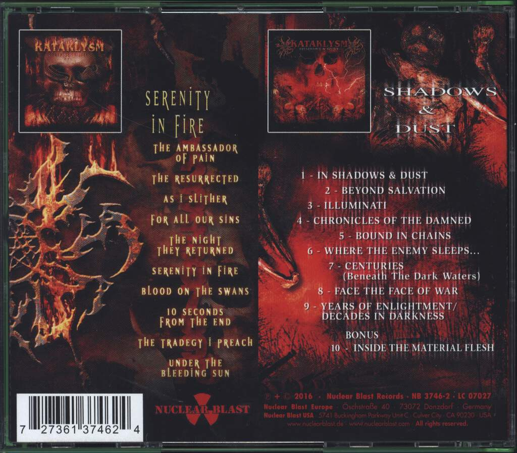Kataklysm: Serenity In Fire / Shadows & Dust, CD