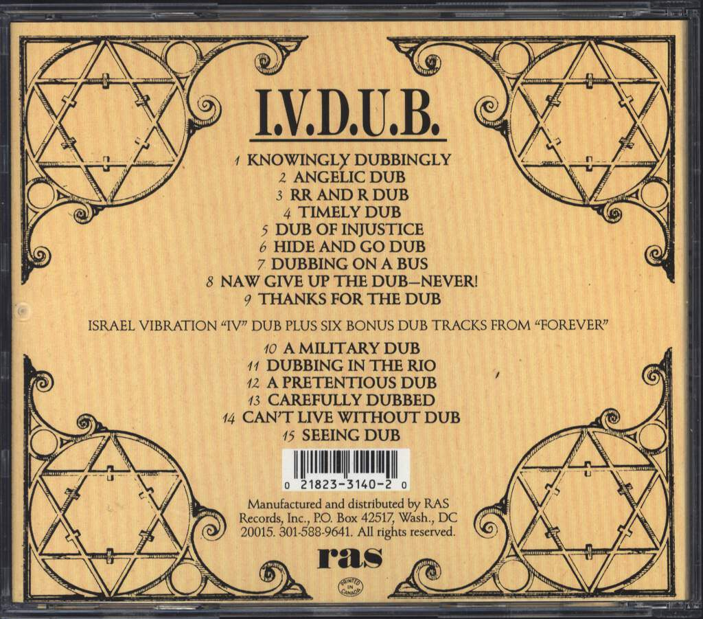 Israel Vibration: I.V.  D.U.B., CD