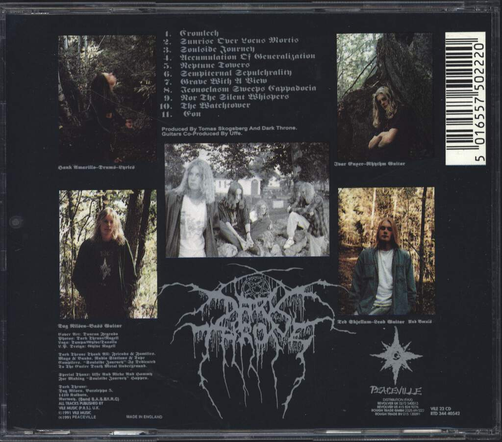 Darkthrone: Soulside Journey, CD
