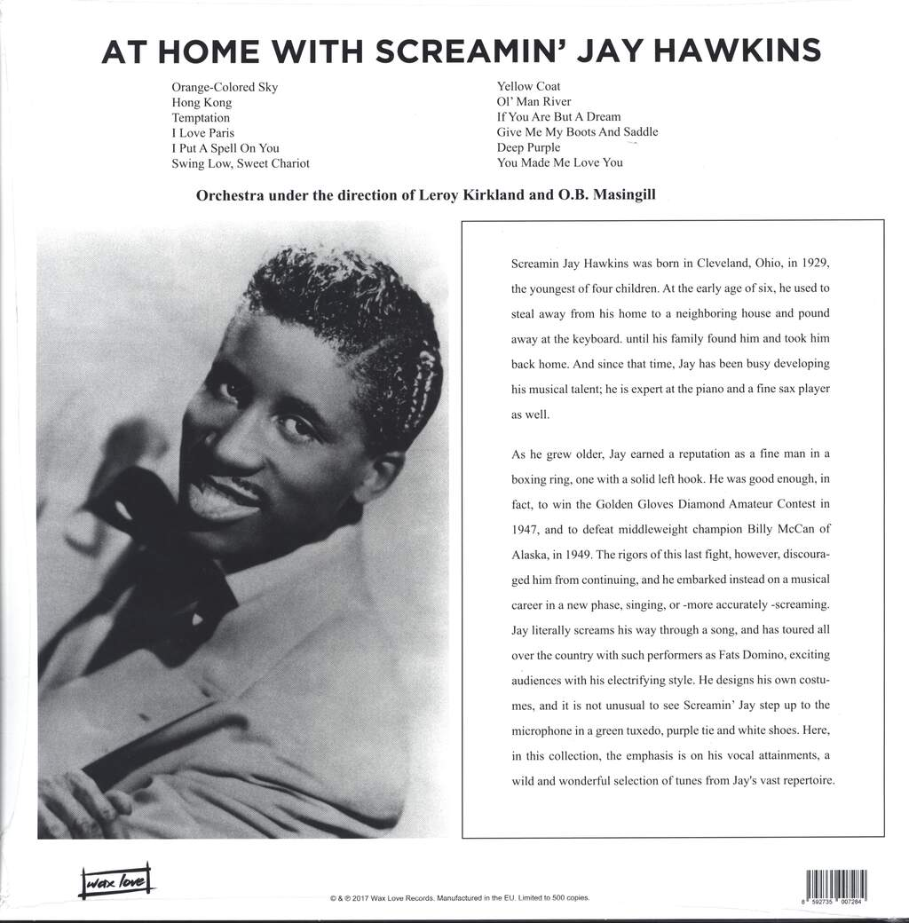 Screamin'jay Hawkins: At Home With Screamin' Jay Hawkins, LP (Vinyl)