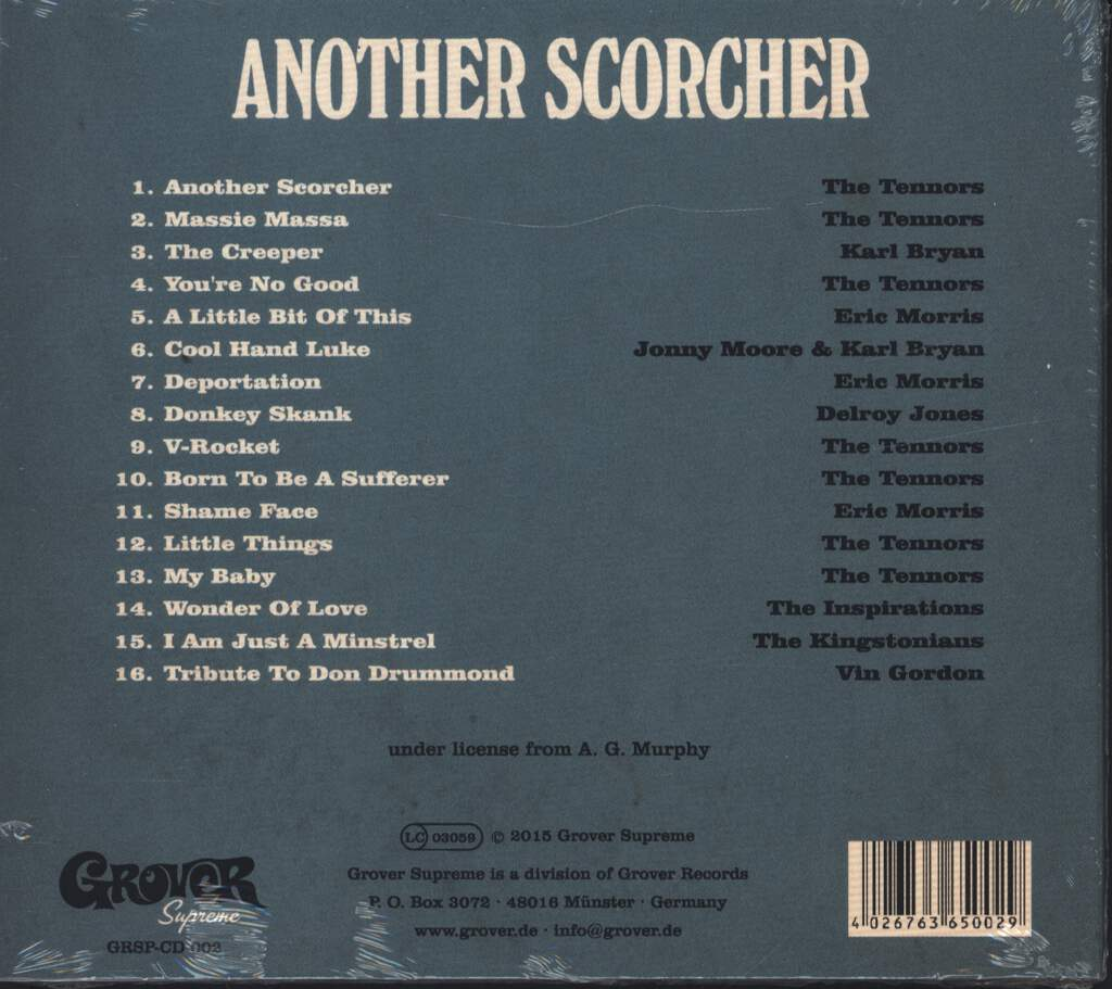 The Tennors & Friends: Another Scorcher, CD