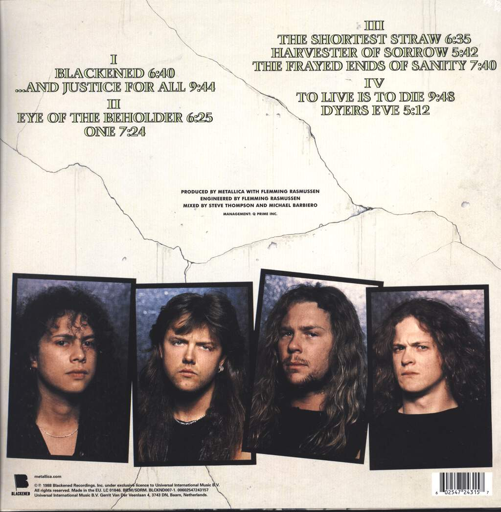Metallica: ...And Justice For All, LP (Vinyl)