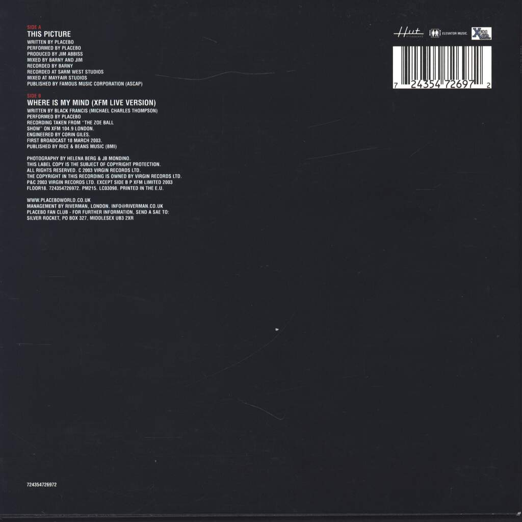 "Placebo: This Picture, 7"" Single (Vinyl)"