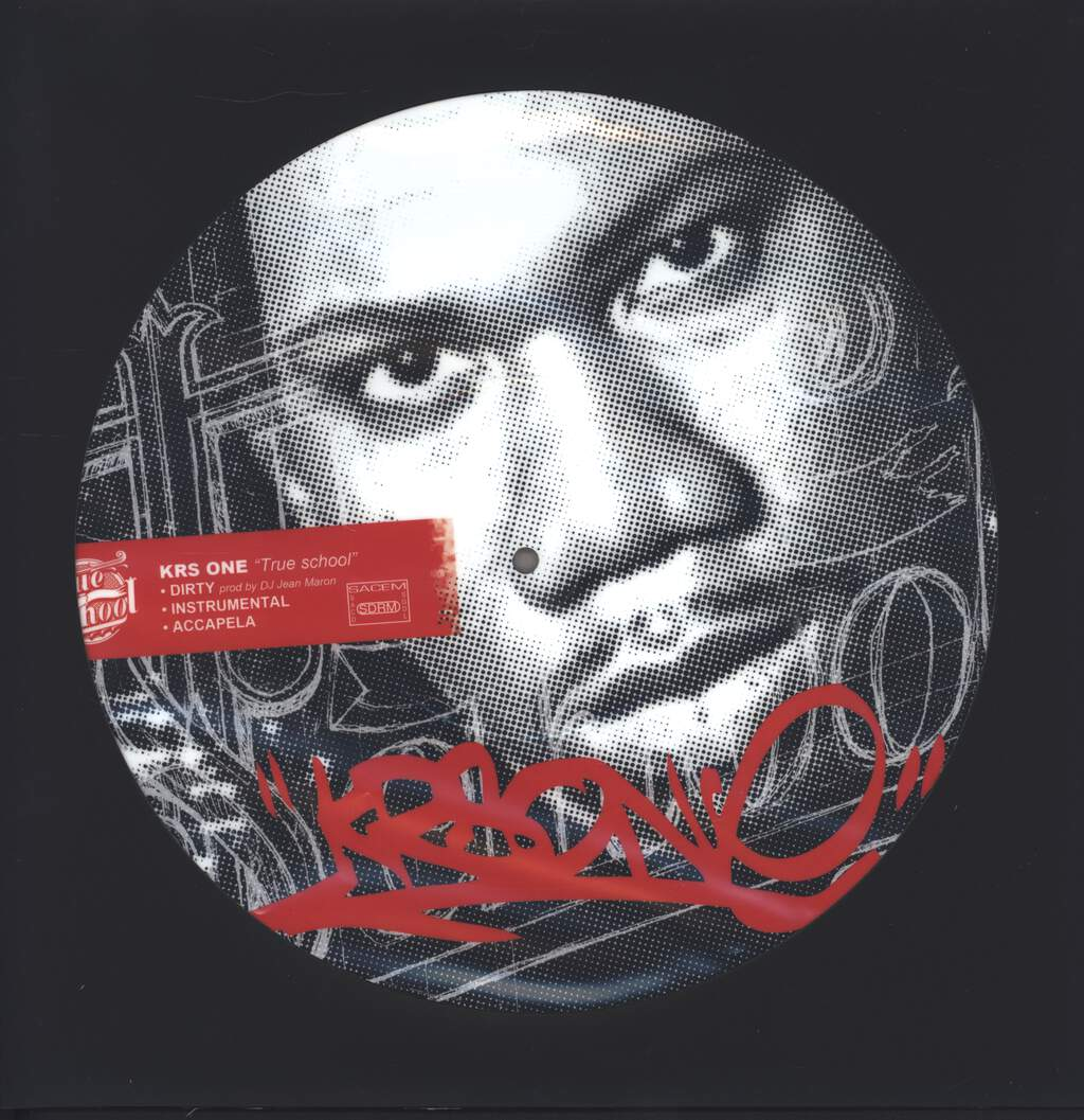 "Krs-One: True School / You Can't Hide, 12"" Maxi Single (Vinyl)"