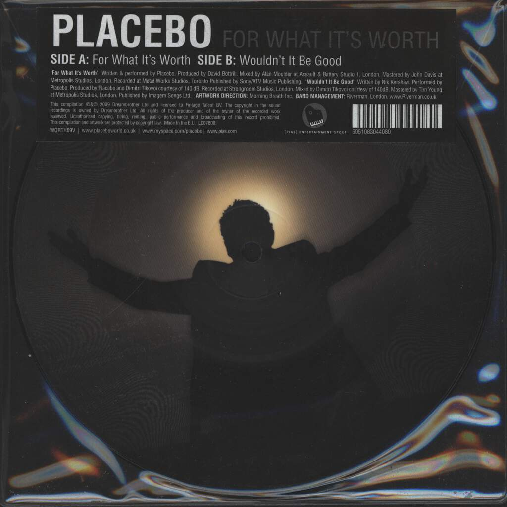 """Placebo: For What It's Worth, 7"""" Single (Vinyl)"""