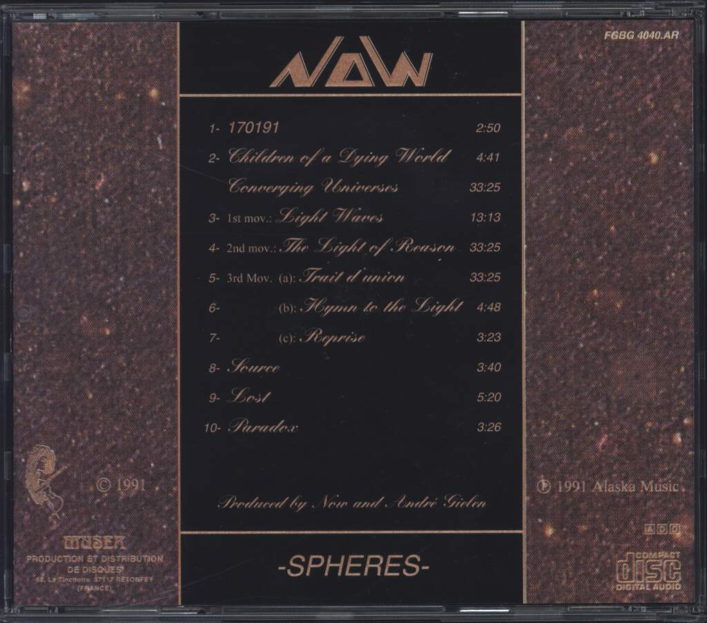 Now: Spheres, CD