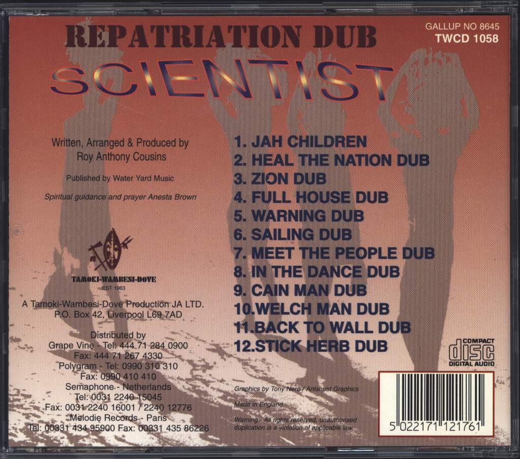 Scientist: Repatriation Dub, CD
