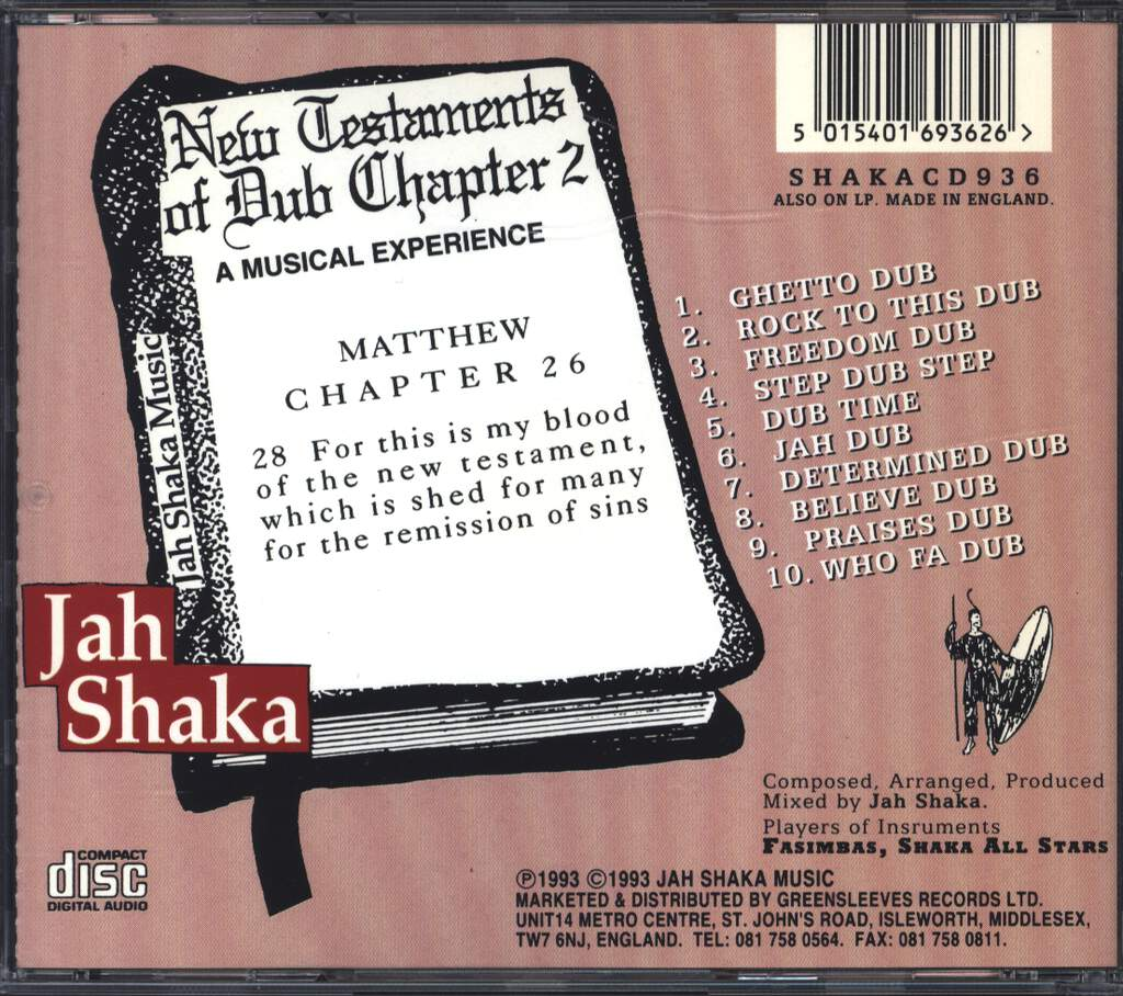 Jah Shaka: New Testaments Of Dub Chapter 2, CD