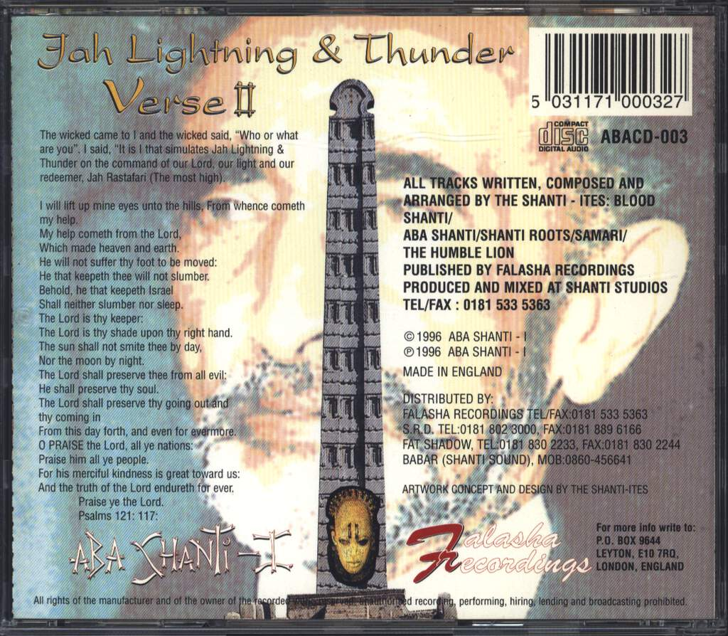 Aba-Shanti-I: Jah Lightning And Thunder Verse II, CD