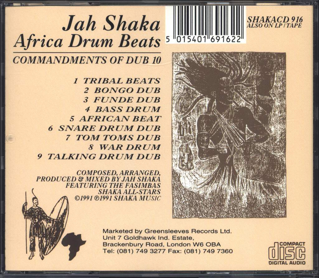 Jah Shaka: Africa Drum Beats - Commandments Of Dub 10, CD