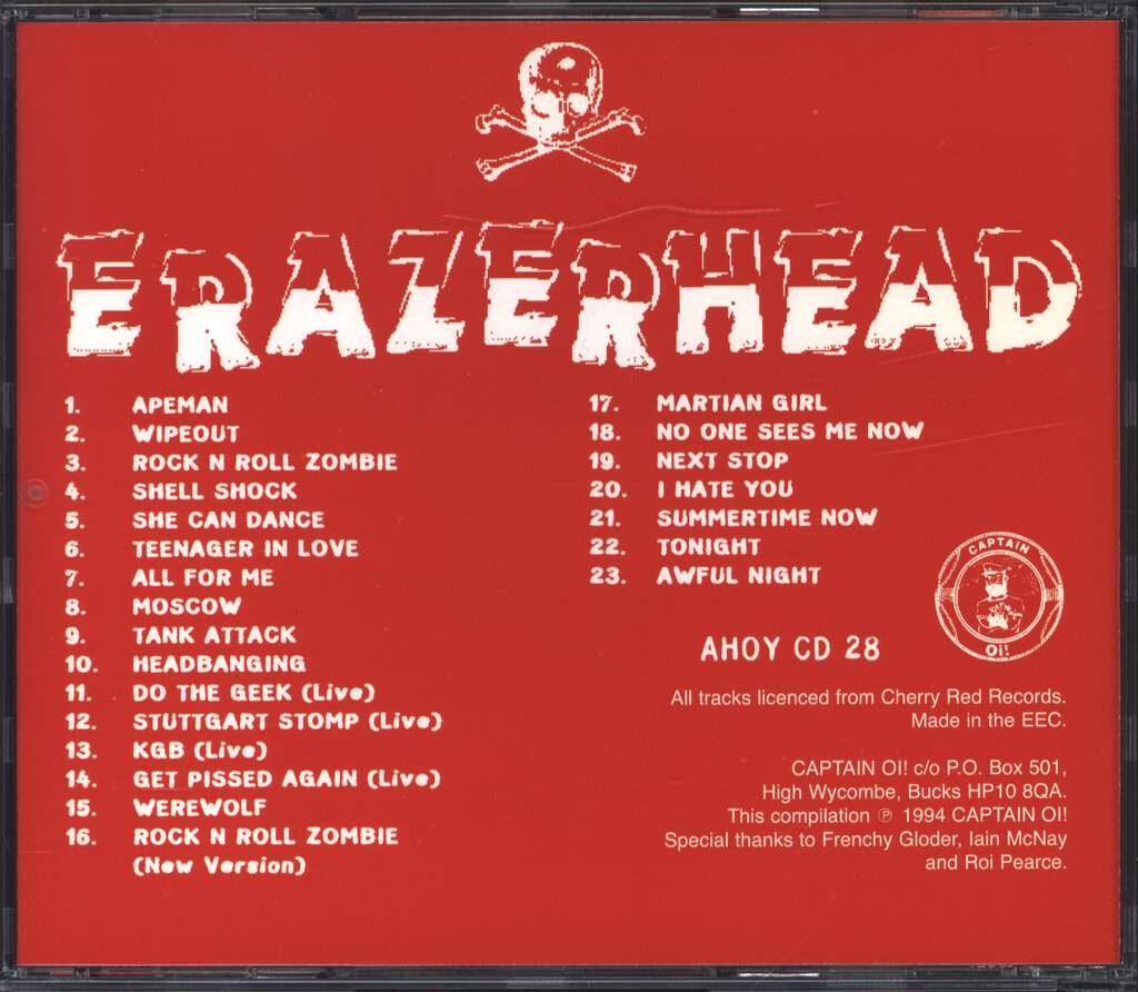 Erazerhead: Shell Shocked The Best Of..., CD