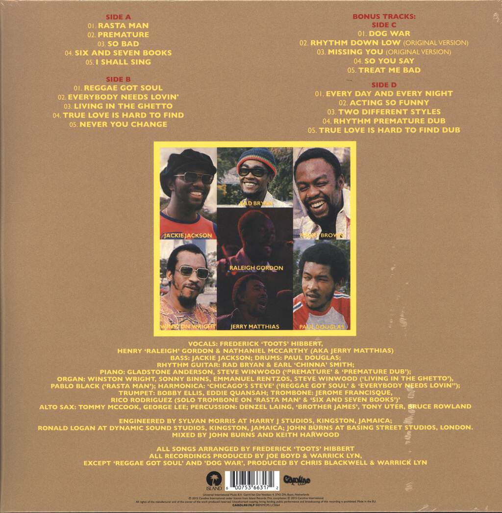 Toots & the Maytals: Reggae Got Soul, 2×LP (Vinyl)