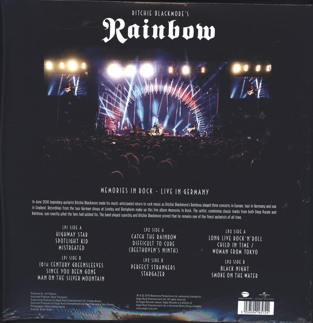 Rainbow: Memories In Rock - Live In Germany, LP (Vinyl)