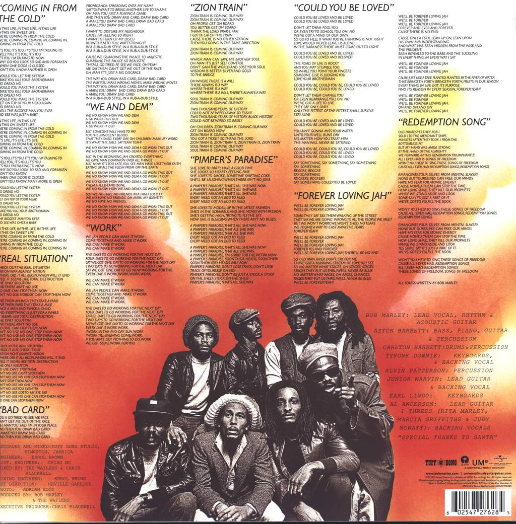 Bob Marley & The Wailers: Uprising, LP (Vinyl)