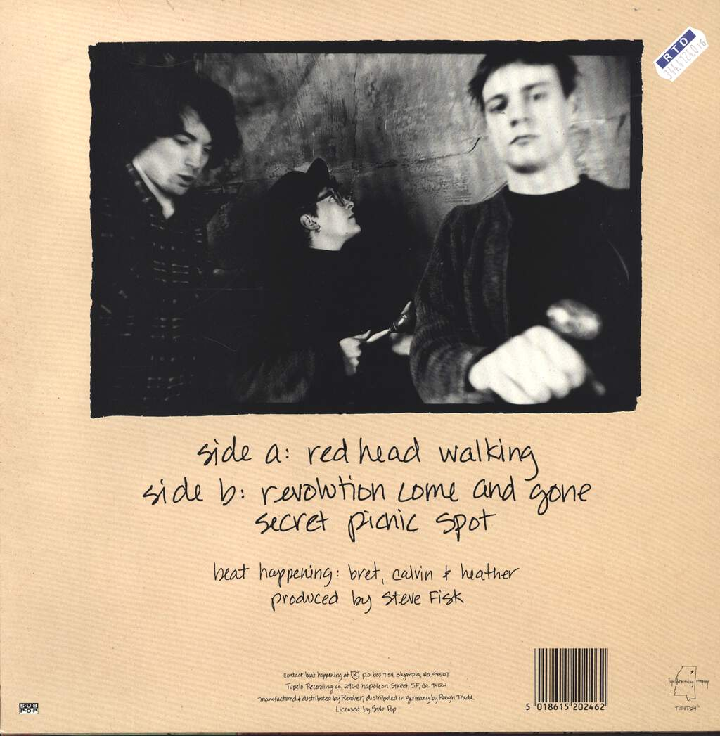 "Beat Happening: Red Head Walking, 12"" Maxi Single (Vinyl)"