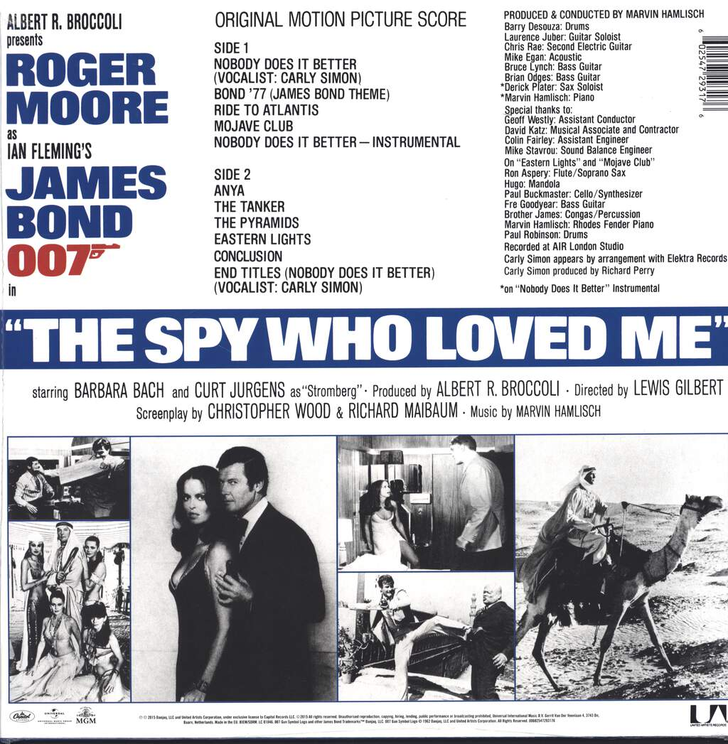 Marvin Hamlisch: The Spy Who Loved Me (Original Motion Picture Score), LP (Vinyl)