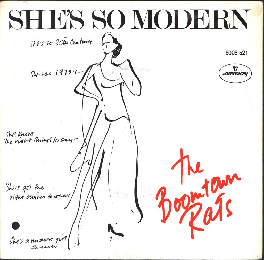 "The Boomtown Rats: She's So Modern, 7"" Single (Vinyl)"