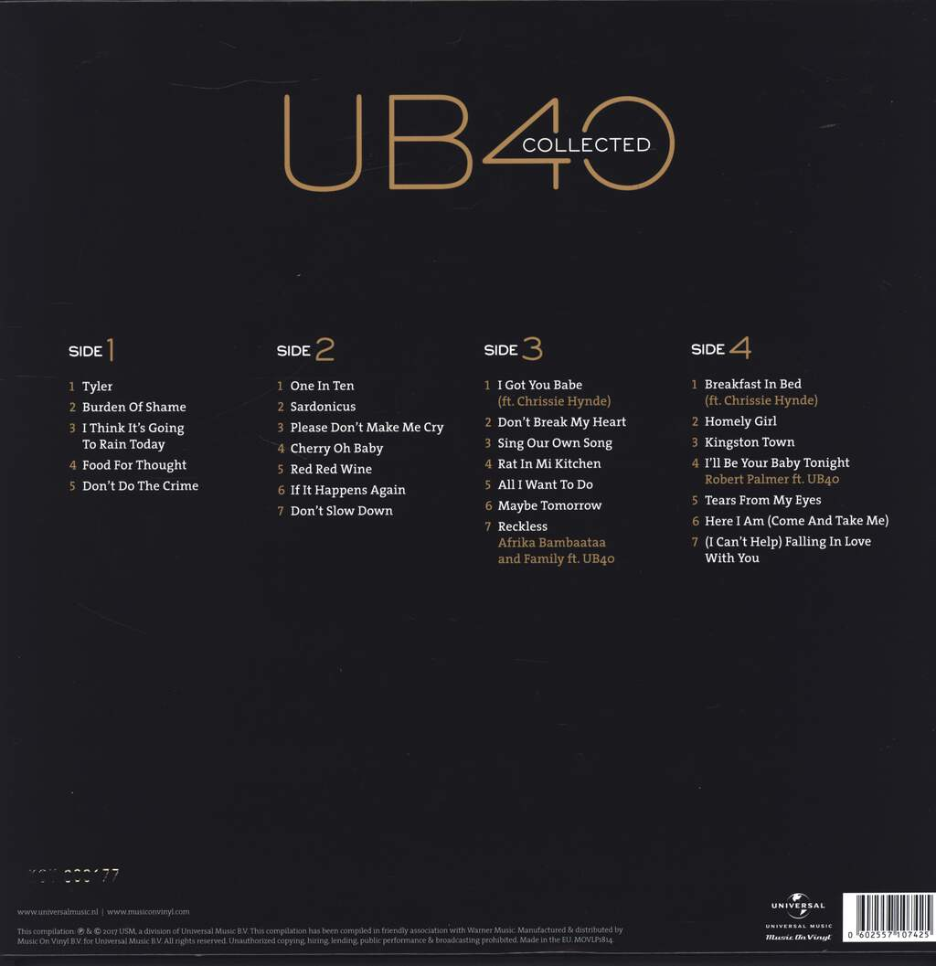 Ub40: Collected, LP (Vinyl)