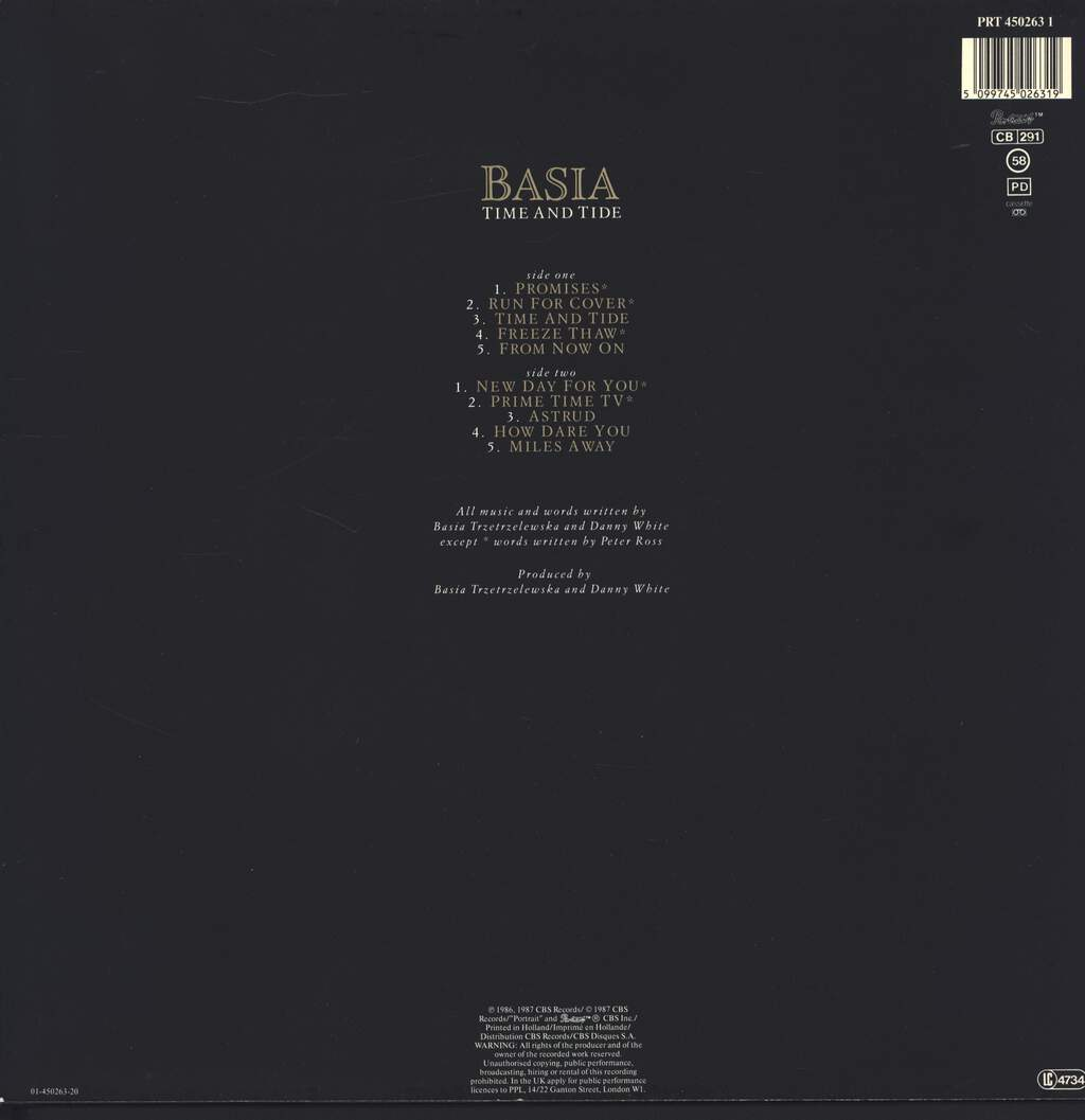Basia: Time And Tide, LP (Vinyl)