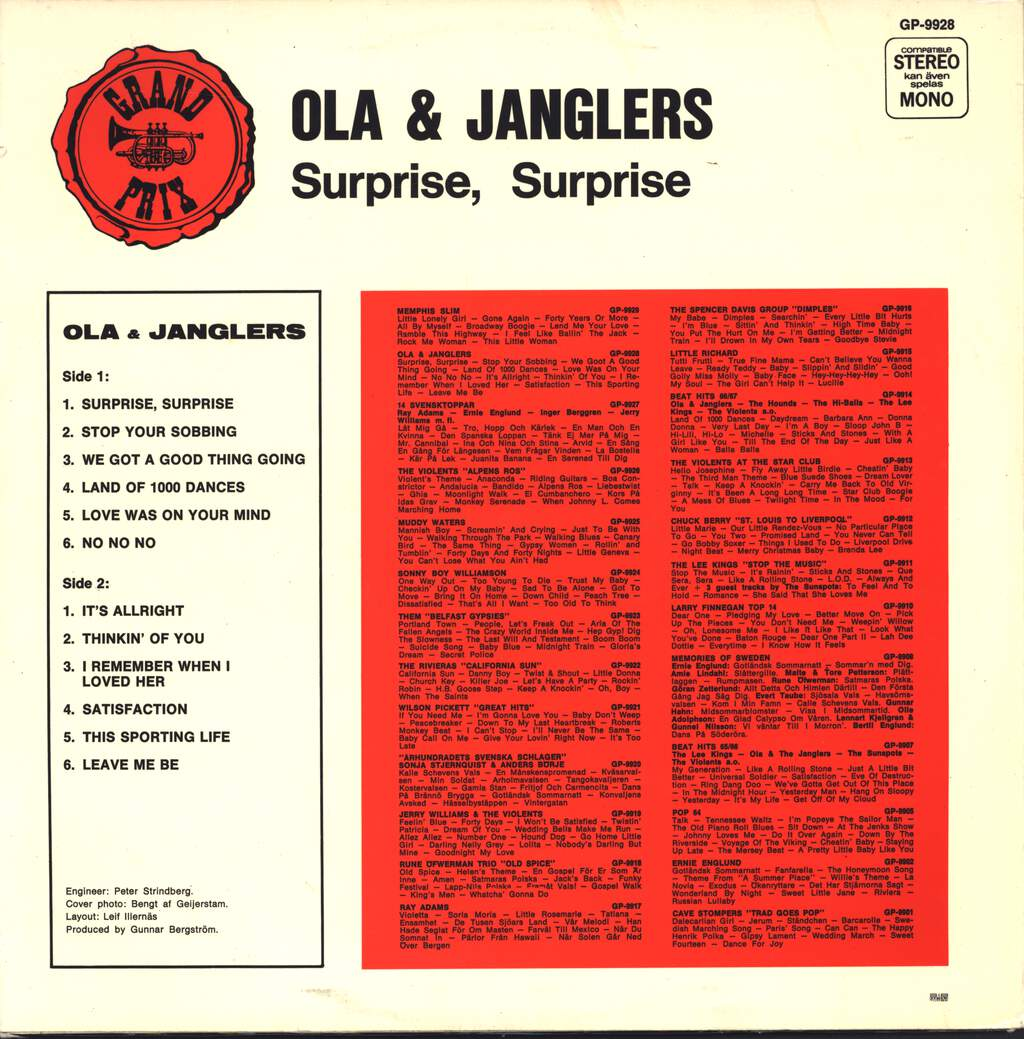 Ola & The Janglers: Surprise, Surprise, LP (Vinyl)