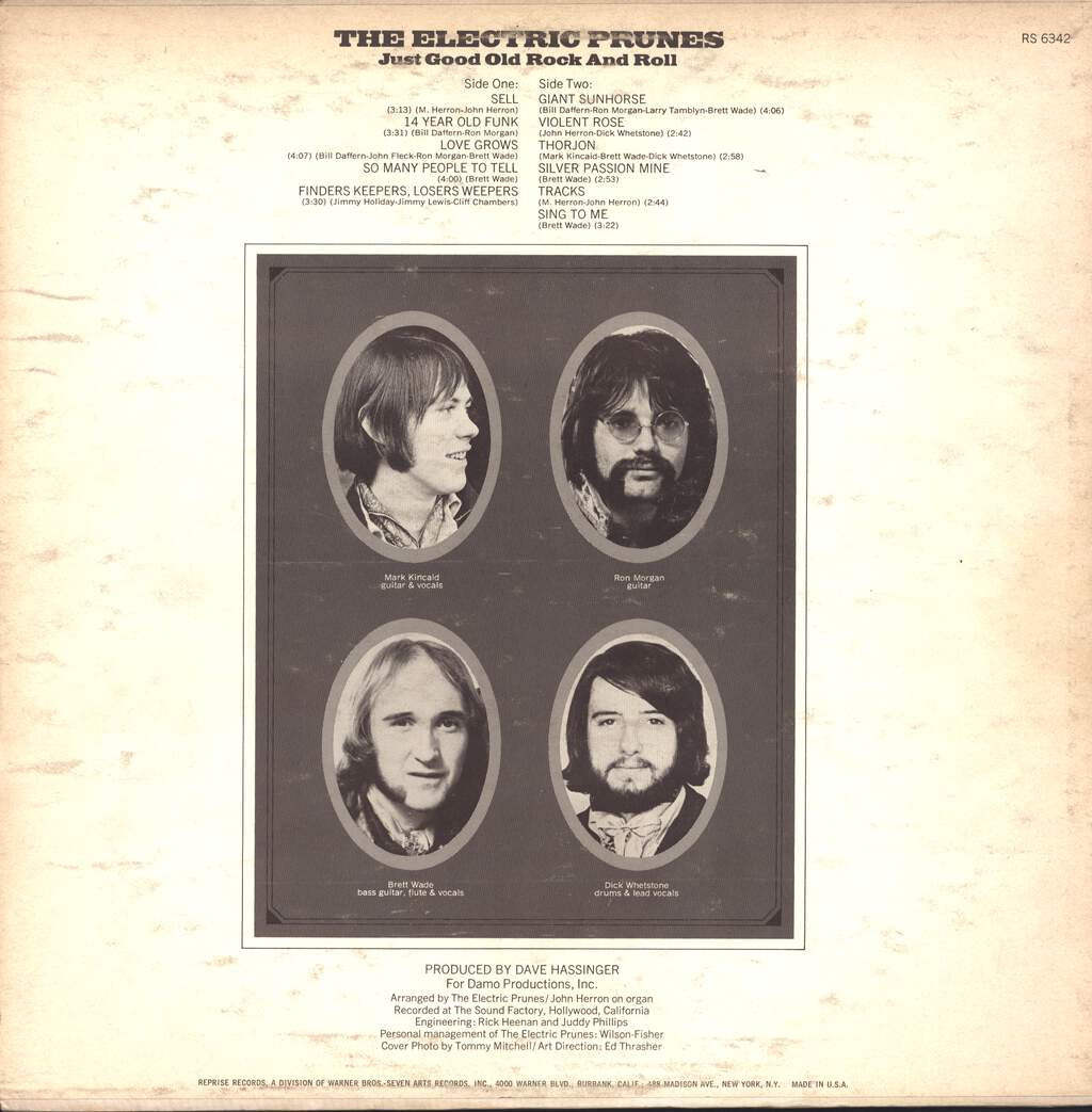 The Electric Prunes: Just Good Old Rock And Roll, LP (Vinyl)