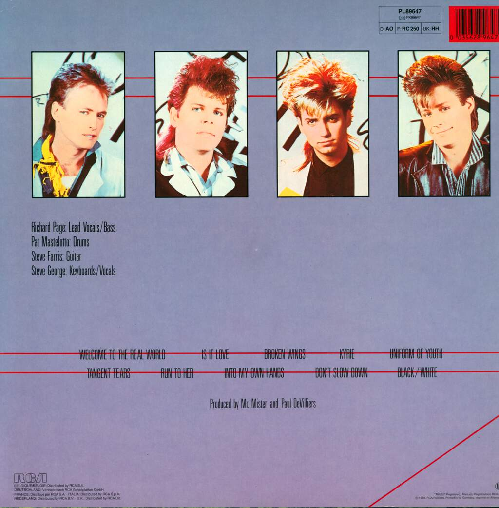 Mr. Mister: Welcome To The Real World, LP (Vinyl)