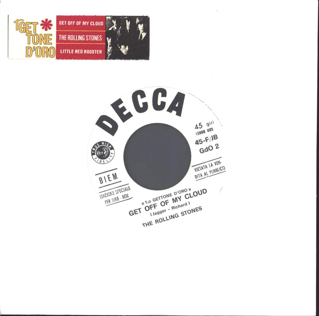 "The Rolling Stones: Get Off Of My Cloud / Little Red Rooster, 7"" Single (Vinyl)"
