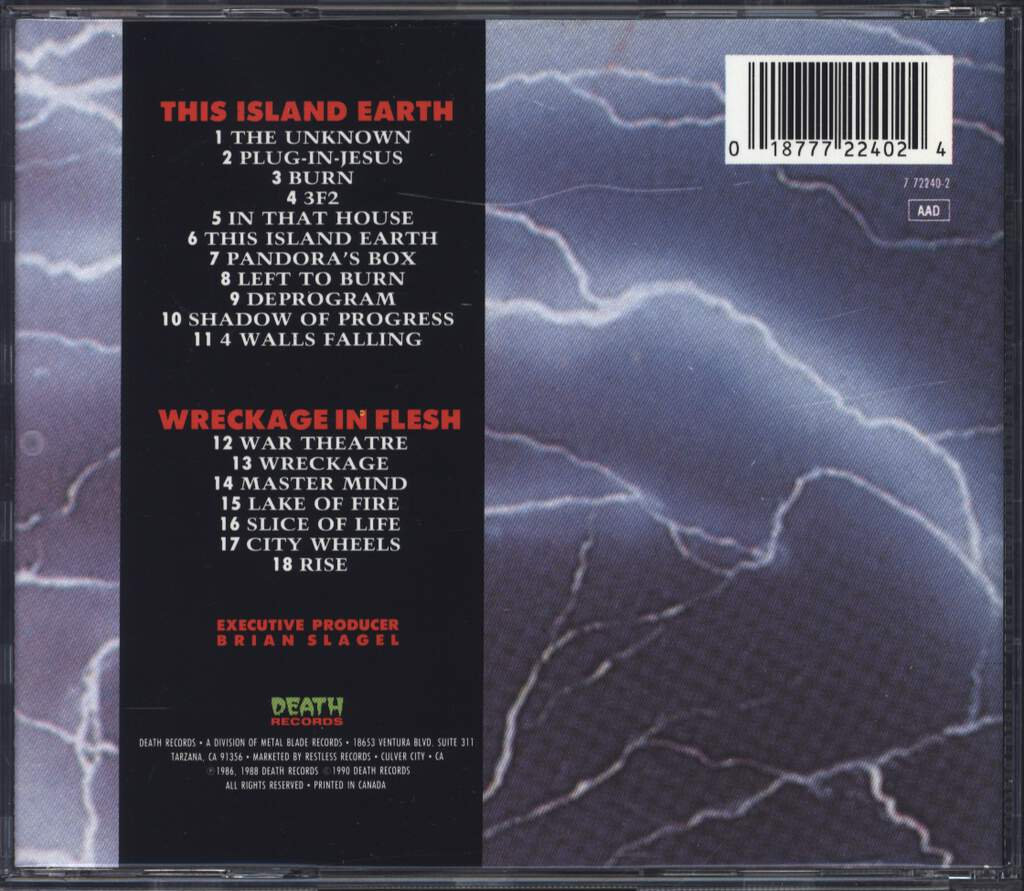 Dr. Know: This Island Earth/Wreckage In Flesh, CD