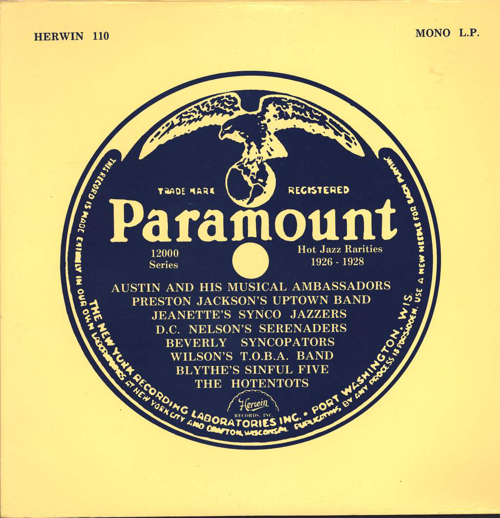 Various: Paramount Hot Jazz Rarities 1926-1928, LP (Vinyl)