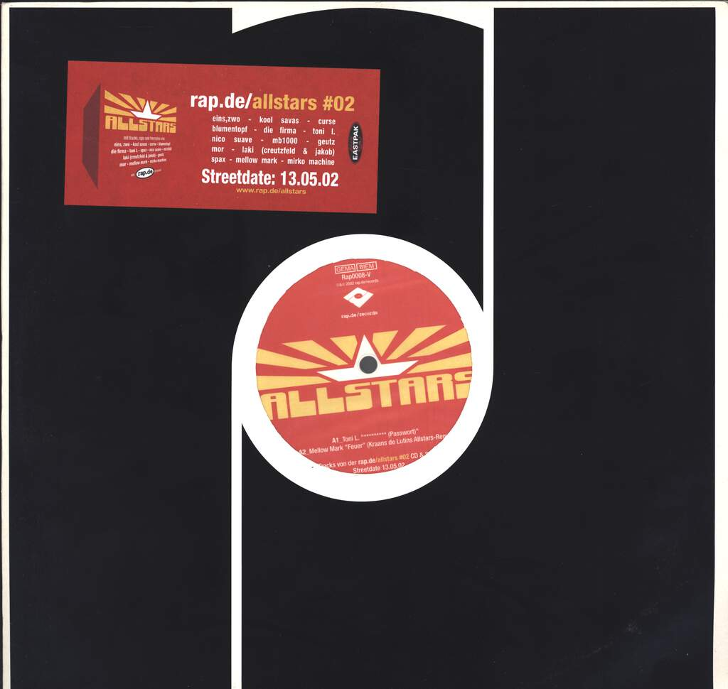 "Various: rap.de Allstars #02, 12"" Maxi Single (Vinyl)"