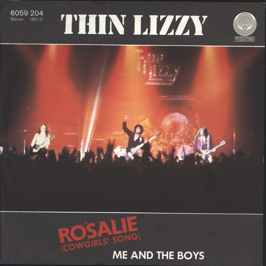 "Thin Lizzy: Rosalie (Cowgirls' Song) / Me And The Boys, 7"" Single (Vinyl)"