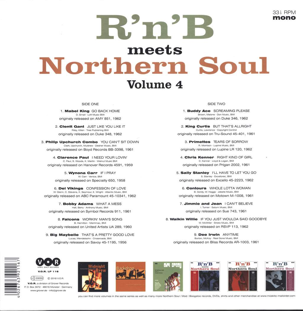 Various: R'n'B Meets Northern Soul Volume 4, LP (Vinyl)