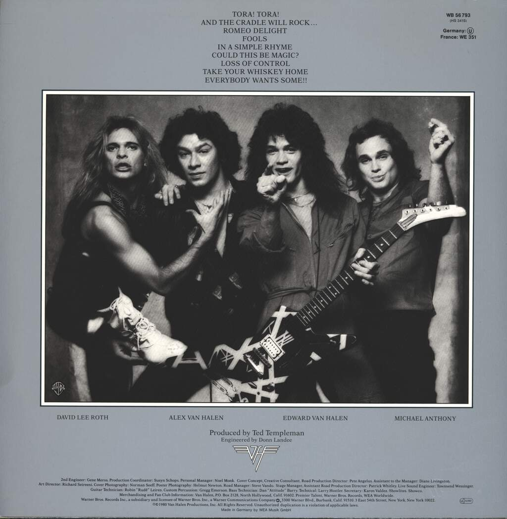 Van Halen: Women And Children First, LP (Vinyl)