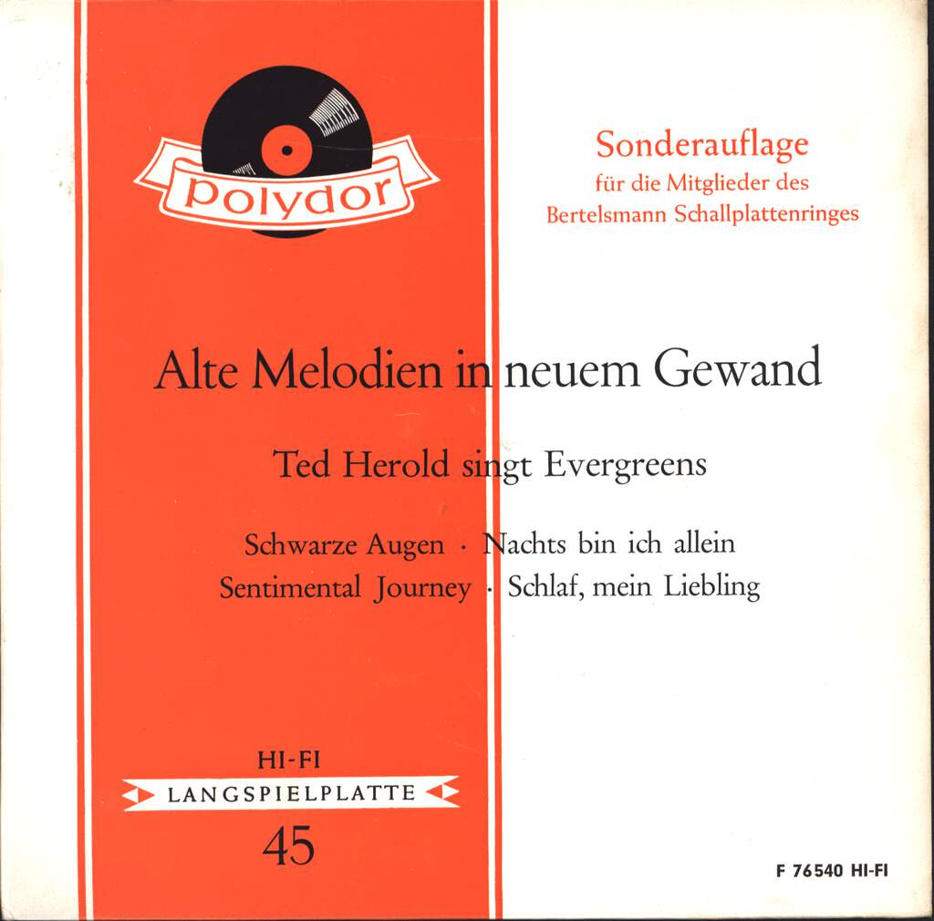 "Ted Herold: Alte Melodien In Neuem Gewand / Ted Herold Singt Evergreens, 7"" Single (Vinyl)"